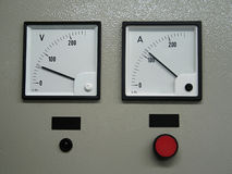 Volt and amper metering Royalty Free Stock Image