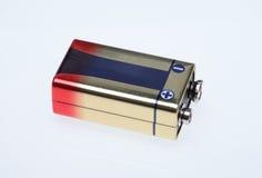 9 volt batteri Royaltyfri Fotografi
