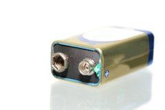 9 Volt Batterie- Lizenzfreie Stockfotos