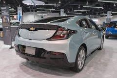 Volt de Chevrolet sur l'affichage image stock