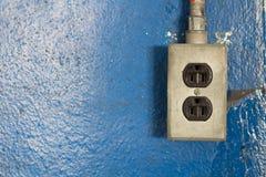 220-volt machtsafzet Stock Foto