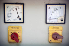 Volt meter Ammeter Royalty Free Stock Photography