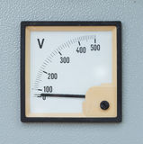 Volt meter. Display on electric control panel Royalty Free Stock Images