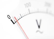 Volt meter, macro Royalty Free Stock Photo