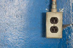 220-volt power outlets Stock Photo