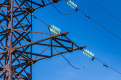 Volt wiring Electricity post Royalty Free Stock Images