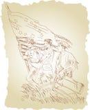 Volta americana ilustração stock