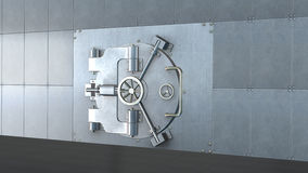 Volta della Banca, porta del metallo chiusa Fotografia Stock Libera da Diritti