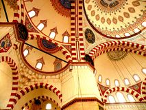 Volta della moschea di Bayezid II Fotografie Stock