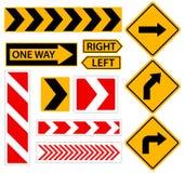 Volta direita Sinal de estrada com seta Desenhos animados ilustração do vetor