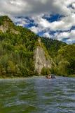 A volta do rio Dunajec imagens de stock