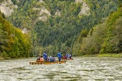 A volta do rio Dunajec imagem de stock