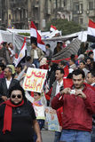 Volta egípcia - Tahrir imagens de stock