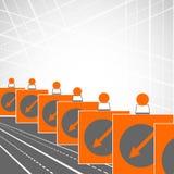 Volta esquerda de sinal de estrada ilustração do vetor