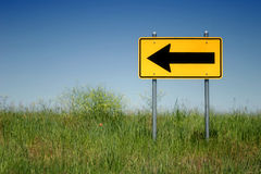 Volta esquerda somente Foto de Stock Royalty Free