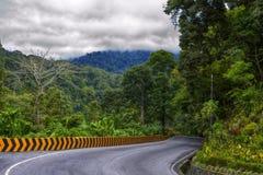 Volta superior de Silaing no meio-dia, Padang Panjang, Tanah Datar, Sumatra ocidental, Indonésia imagem de stock royalty free