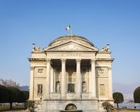The Volta Temple in Como, Italy. The Volta Temple, the neoclassical monument dedicated to Alessandro Volta, the inventor of the electric battery, near the Como Royalty Free Stock Photo