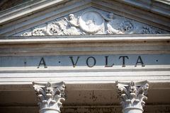 Volta Temple in Como, Italy Stock Images