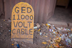 Voltage cable Royalty Free Stock Photos
