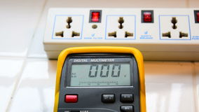 The voltage measurement stock video