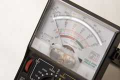 Voltage meter. Close-up of voltage meter Royalty Free Stock Photos
