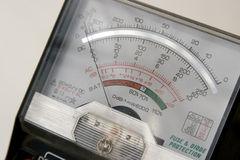 Voltage meter. Close-up of voltage meter Royalty Free Stock Images