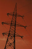 Voltage power pylon Stock Photo