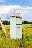 Voltage power transformer substation Royalty Free Stock Images