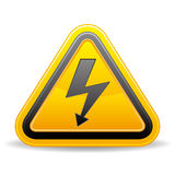 voltage sign. On white background Stock Image