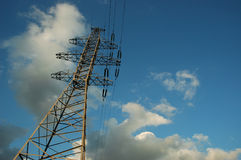 Voltage tower. In sunset light Stock Image
