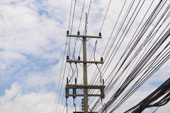 voltage towers Royalty Free Stock Photo