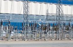 Voltage transformers. Royalty Free Stock Image
