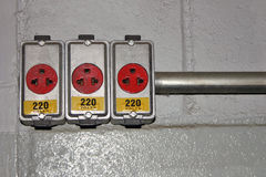 Voltage - 220V Stock Photography