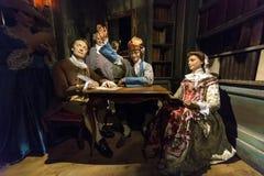 Voltaire e Diderot Fotografia Stock