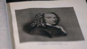Voltaire el gran filósofo francés, retrato