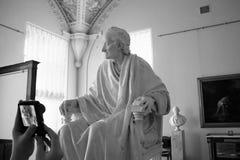 Voltaire in seinem Stuhl Stockbild