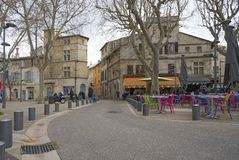 Voltaire square - Arles - Camargue - France. View of Voltaire square - Arles - Camargue - Provence - France Royalty Free Stock Photos
