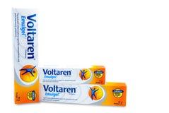 Voltaren Emulgel 1% diclofenac stelnar för aktuellt anti--upphetsande, osteoarthritisen, stolpe-traumatiska tecken Produkt under  fotografering för bildbyråer