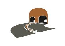 Voltas da pista da estrada a um túnel Foto de Stock