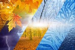 Voltas da queda ao inverno Conceito da previsão de tempo fotos de stock