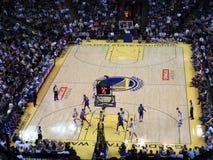 Voltas de Stephen Curry do jogador dos guerreiros do Golden State Fotos de Stock