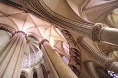Volte del coro e dell'ambulatorio della cattedrale della st-Julien di Le Mans Immagine Stock Libera da Diritti