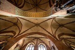 Volte del soffitto della chiesa Immagini Stock