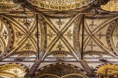 Volte della basilica del san Anastasia a Verona Immagine Stock Libera da Diritti