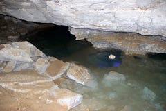 Volte della caverna di Kungur Fotografie Stock
