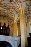 Volte dentro la chiesa fortificata Biertan, la Transilvania del sassone Immagine Stock