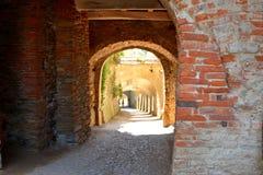 Volte nella chiesa fortificata Biertan, la Transilvania del sassone Fotografia Stock