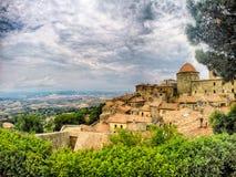 Voltera意大利Toscany美好的地方 库存图片