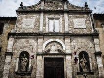 Voltera意大利Toscany美好的地方 免版税库存图片