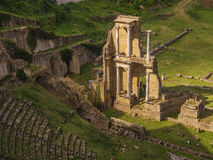罗马废墟在Voltera,意大利 库存照片